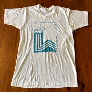Vintage 1980 XIII Olympic Winter Games T-shirt